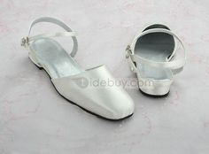 High Quality Satin Upper Low Heel Closed-toes Wedding Bridal Shoes