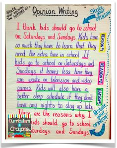 Opinion Writing Launch Lesson