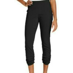 Ruched Legging Style&co. Ruched Legging Color : Deep Black Style & Co Pants Leggings