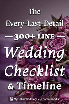Wedding Checklist Timeline, Wedding Checklist Detailed, Wedding Timeline, Wedding Checklists, Diy Wedding On A Budget, Wedding Planning On A Budget, Plan Your Wedding, Diy Wedding Tips, Weddings On A Budget