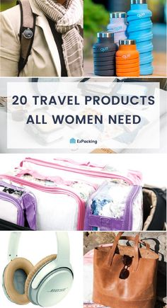 Travel Essentials for Women: Products You Need – EzPacking, Inc This list is seriously the best. Don't leave the house without checking off these travel essentials ladies! We included our favorite brands, travel product, and a sweet surprise. Bag Essentials, Travel Essentials For Women, Packing Tips For Travel, Travel Advice, Travel Guides, Packing Hacks, Travel Bags For Women, Backpacking Tips, Packing Lists