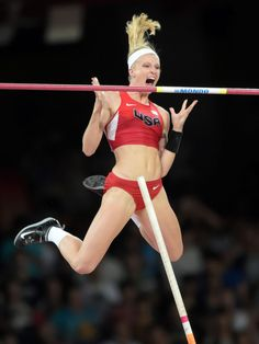 USA's Sandi Morris ties for fourth in the women's pole vault during the IAAF World Championships in Beijing.  Kirby Lee, USA TODAY Sports