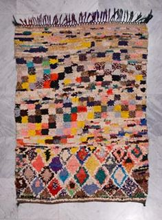 Carpet gallery with focus on vintage Moroccan Berber rugs such as Beni Ouarain / Ourain, Azilal, Ourika, boucherouite / boucharouette rugs. Cost Of Carpet, Floor Cloth, Moroccan Berber Rug, Patterned Carpet, Berber Carpet, Rug Hooking, Carpet Runner, Woven Rug, Textile Art