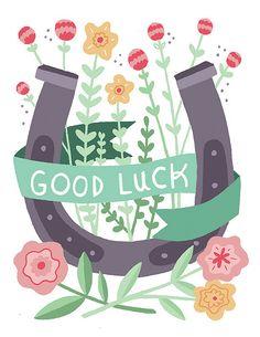 Good luck card by Alyssa Nassner, via Flickr