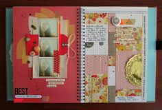 Smash book layout-- I think I like smash book better than wreck this journal...
