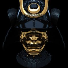 Traditional Samurai masks were used to scare off bad virtues and spirits in the time of warfare  Samurai mask by guiltyblade, via Flickr