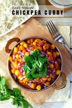 How do you take advantage of the year of pulses? Make chickpea curry! This recipe is a version of chana masala but with spices you can find in any supermarket. Best of all it's ready in 30 minutes!