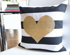 Monogram Throw Pillow Cover I Dream in Gold by idreamingoldshop