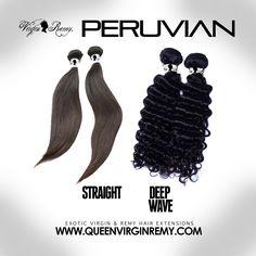 VIRGIN PERUVIAN Hair, Bundles starting @ $49