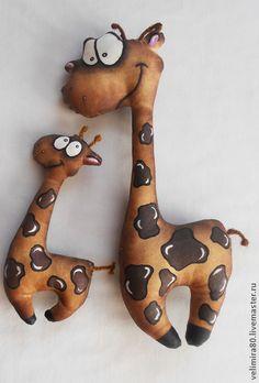 Жираф Арсений. - коричневый,игрушка ручной работы,игрушка в подарок,игрушка