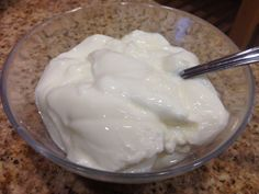 Now, I know we all have busy lives, and I definitely am busy. So one of the short cuts I usually take is that I buy my Greek yogurt from Trader Joe's. But the other day I had a gallon of milk that was about to expire, so I remembered that whenever that happened to my mom, she would just turn it in