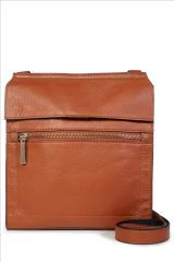 Leather Messenger Across-The-Body Bag (676490X54) | £35 #myawcolour.