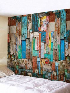 49 Fascinating Art Wooden Wall Decor Ideas For Your Home Wooden Wall Decor, Wooden Walls, Wall Art Decor, Cheap Wall Tapestries, Wall Tapestry, Palette Deco, Wood Mosaic, Diy Art Projects, Wood Art