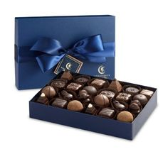 Moonstruck Chocolate 24-Piece Chocolate Truffle Collection - http://bestchocolateshop.com/moonstruck-chocolate-24-piece-chocolate-truffle-collection/