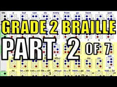 Grade 2 Braille [2/7] - Numbers, Capital Letters and Italics - YouTube