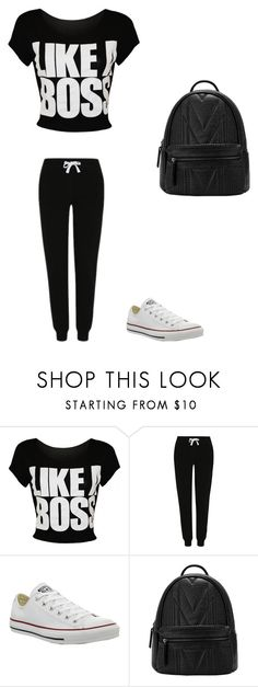 """like a boss"" by kemiyaboyd ❤ liked on Polyvore featuring George, Converse, women's clothing, women, female, woman, misses and juniors"