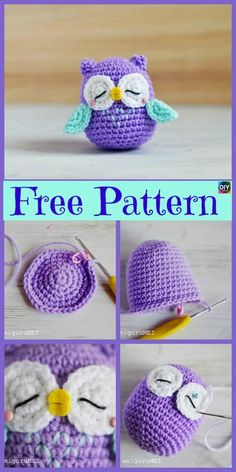 12 Cutest Crochet Amigurumi Owl Free Patterns - DIY 4 EVER Everyone loves owls, and they are one of our favorite animals! So why not learn how to make a adorable Crochet Amigurumi Owl for your child ? Cute Crochet, Crochet Crafts, Crochet Dolls, Crochet Baby, Crochet Projects, Diy Projects, Crochet Tutorials, Owl Crochet Patterns, Owl Patterns