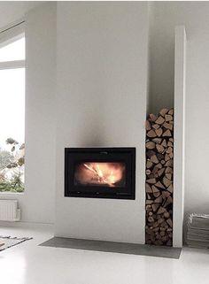 Foyers, Family Room Fireplace, Limestone Fireplace, Firewood Storage, Interior Decorating, Interior Design, Fireplace Design, Hearth, House Design