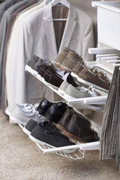 Zestaw: Regał z półkami na buty do garderoby Elfa Classic Biały, Elfa - Akcesoria