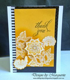 Designs by Marguerite: Ornate Blossoms new from CTMH Love Cards, Thank You Cards, Pretty Cards, Card Making Designs, Heart Cards, Close To My Heart, Stamp Collecting, Cardmaking, Card Stock
