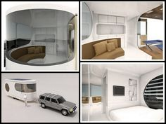 "Caravan/travel trailer concept dubbed the ""Romotow"" by W2"