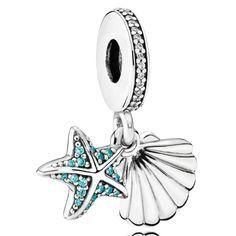 Charm Pandora Plata Estrella de Mar y concha Tropical 792076CZF