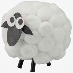 Tutorial para hacer ovejitas de algodón de forma muy fácil.