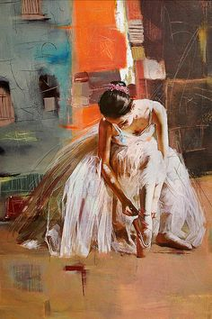 """Ballerina"" Original Oil #Painting by Artist: Mahnoor ""Mano"" Shah 20"" x 30"" Canvas @CATaskForce"