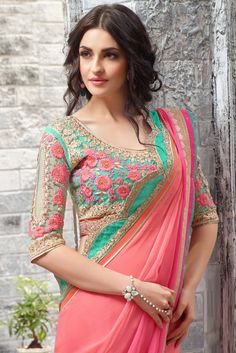 Shaded Pink #Party Wear #Saree