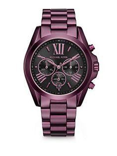Michael Kors - Bradshaw Plum Watch is a stunner!
