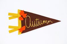 Cute Autumn Mini Pennant tutorial from wildolive via CRAFT.