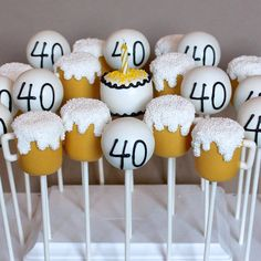 12 Beer Mug Cake Pops for husband boyfriend by SweetWhimsyShop
