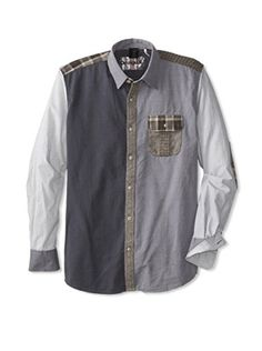 Desigual Men's Hiroshi Long Sleeve Shirt (Storm Grey)