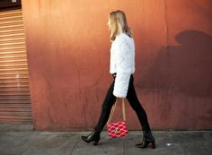Fluffy White | Street Style | Fashion Gone Rouge