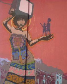 cape town street art. South African Art, Outdoor Art, Cape Town, Graffiti, Street Art, Cool Stuff, Painting, Image, Cool Things