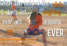 Softball Quotes to me its and passion and an obsession! Softball Catcher Quotes, Funny Softball Quotes, Softball Cheers, Baseball Quotes, Softball Pictures, Girls Softball, Softball Players, Softball Stuff, Softball Things