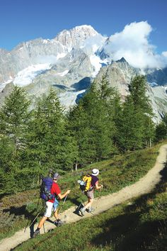 "The Tour du Mont Blanc (TMB), a 160km loop hike ""is one of the most special hiking experiences in the world. You travel through three different countries (France, Italy, Switzerland) and over several mountain passes with some of Europe's most dramatic glaciers on display."" (Ultrarunner Topher Gaylord)"