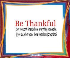 Be Thankful Poem