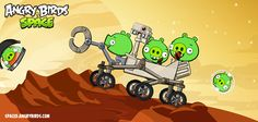 Mars Curiosity Rover makes a guest appearance on Angry Birds in Space!