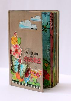 upcycled and altered vintage book