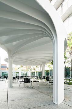 Leaf-Structured Canopy by SAM Architekten und Partner.