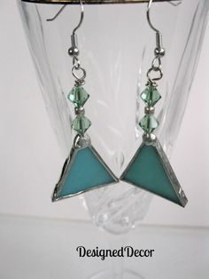 Stained Glass Dangle Earrings by DesignedDecor on Etsy, $10.00