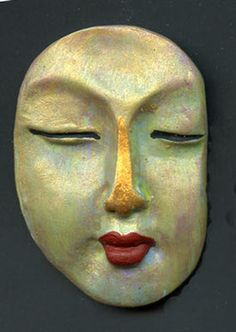 Abstract Buddah Face by LINDA LINSART | Polymer Clay Planet