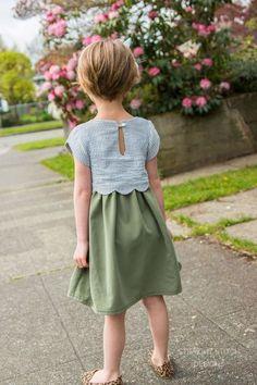Sullivan Dress - Scalloped Girls Dress Pattern - sooo cute!