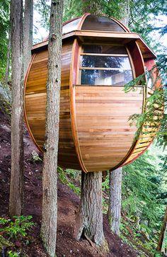 The HemLoft, a secret treehouse near Whistler, BC