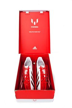 adidas Messi F50 adizero TRX FG Soccer Cleats - Red with White with Box...$197.99