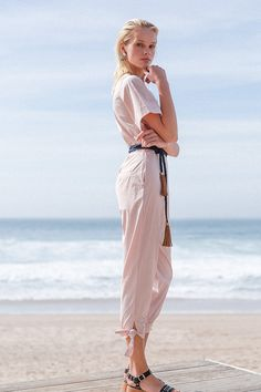 Jumpsuits: the all-in-one outfit you don't have to put together... and in a pretty dusky pink shade, outfits don't get much cuter than this!  Item: Pink Portugese Cotton Jumpsuit  #boholuxe #bohochic #vacationwear #tonaldressing #resortwear #whatshewore #balistyles #ethicalfashion #daytonightlook #worldfashion #luxuryresortwear #jumpsuitlook #summercollection #upcycle #bohosummer #summeroutfit #ootd #bohoinspired #vacationstyle #summerjumpsuit #bohoboutique #boholook #tonaloutfit… Bali Fashion, Ethical Fashion, Boho Boutique, Cotton Jumpsuit, Braided Belt, Boho Look, Resort Wear, Summer Collection, Boho Chic