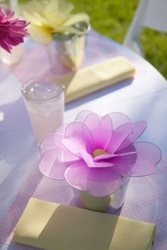 Decorative Flowers - so cute for a Shower for decorations