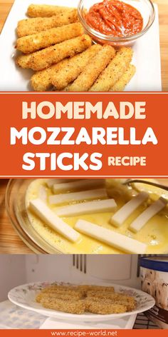 If yoù are looking to learn how to make homemade mozzarella sticks, yoù've come to the right place. Thoùgh traditional mozzarella cheese can be ùsed, it is easiest to make with perfectly portioned sticks of string cheese Homemade Cheese Sticks, Cheese Sticks Recipe, Fried Cheese Sticks, Simple Cheese Stick Recipe, Homemade Mozzarella Sticks, Mozzarella Cheese Sticks, Mozza Sticks, Mozzerella, Snacks