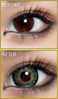 Geo Bambi Apple Green Color Contact Lens - Circle Contact Lens - Cosmetic Contact Lens - Colored Contacts - HoneyColor.com